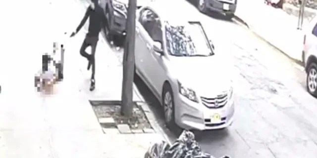 Image from video showing a teenager as he was shot in the head and killed in the Bronx Thursday.
