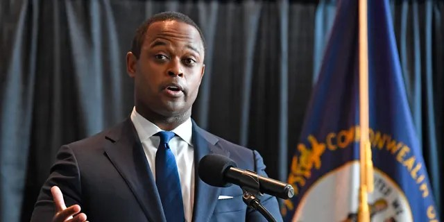 Kentucky Attorney General Daniel Cameron addresses the media following the return of a grand jury investigation into the death of Breonna Taylor, in Frankfort, Ky., on Wednesday. (AP)