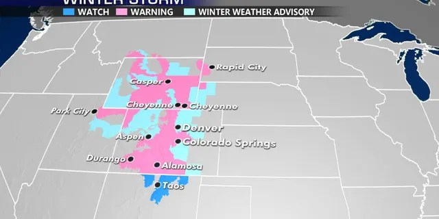 Winter storm warnings and advisories stretch through the region.