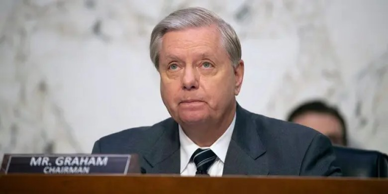 Sen. Lindsey Graham, R-S.C., speaks during a confirmation hearing for Supreme Court nominee Amy Coney Barrett before the Senate Judiciary Committee, Monday, Oct. 12, 2020, on Capitol Hill in Washington. (Shawn Thew/Pool via AP)
