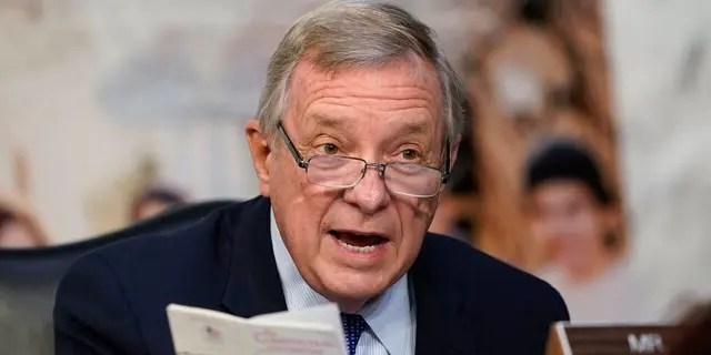 Sen. Dick Durbin, D-Ill., speaks during the confirmation hearing for Supreme Court nominee Amy Coney Barrett, before the Senate Judiciary Committee, Wednesday, Oct. 14, 2020, on Capitol Hill in Washington. (AP Photo/Susan Walsh, Pool)