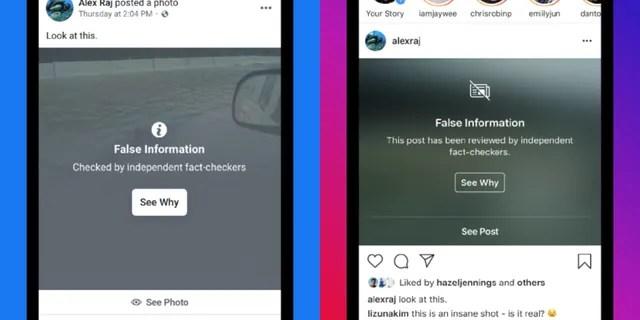 Facebook false information label (Facebook)