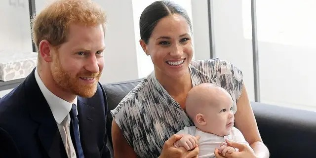 The Duke and Duchess of Sussex currently reside in California with their son Archie (pictured here) and daughter Lilibet.