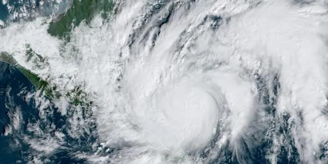 Hurricane Eta roars as a Category 4 storm as it approaches Nicaragua on Tuesday, Nov. 3, 2020.