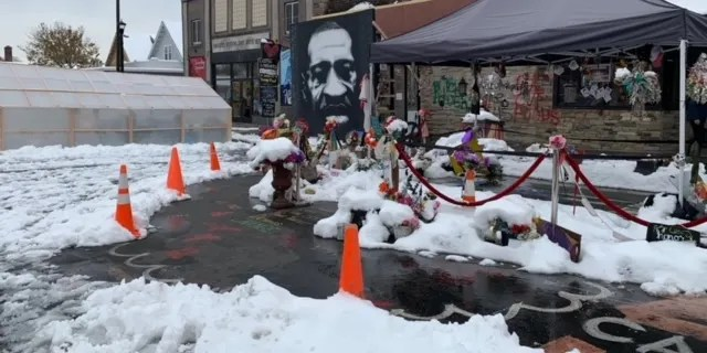 George Floyd Memorial Site, Minneapolis (Hollie McKay/Fox News)
