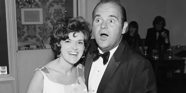 Pictured: Actress/producer Carol Arthur and husband actor/comedian Dom DeLuise.