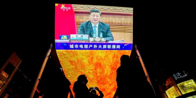 President Xi Jinping speaking at the G20 summit that opened on Saturday with appeals by the world's most powerful leaders to collectively chart a way forward as the coronavirus pandemic overshadows this year's gathering. (AP Photo/Andy Wong)