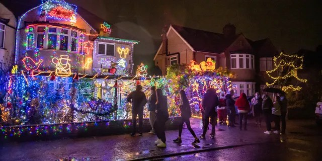 This year's lighting event was apparently scaled back due to the ongoing coronavirus pandemic, although it was streamed online.
