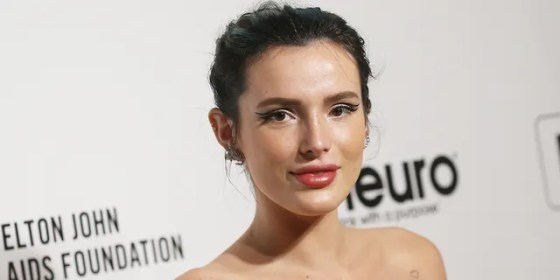 Bella Thorne has been criticized for saying she got 'heat' for joining OnlyFans 'first' as more celebrities join the subscription-only social media platform.  (Photo by Michael Tran / AFP via Getty Images)