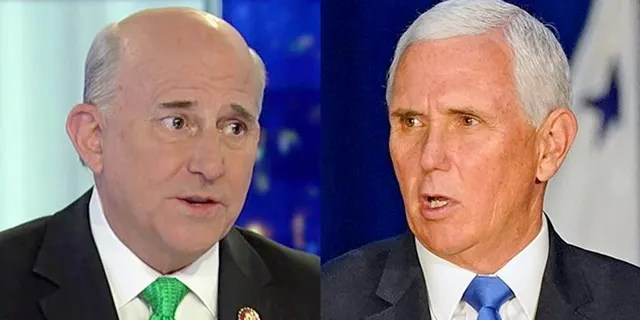 U.S. Rep. Louie Gohmert, R-Texas, left, and Vice President Mike Pence.
