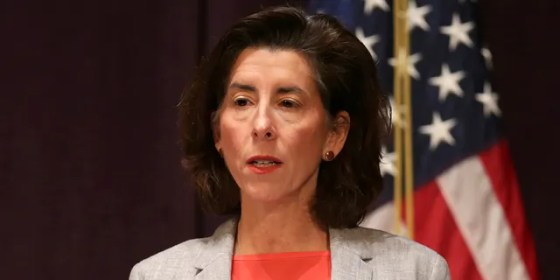 Gina M. Raimondo, Governor of Rhode Island, speaks at an afternoon press conference at the Vets Memorial Auditorium, in Providence, RI on Dec. 3, 2020.