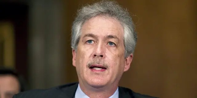 In this May 24, 2011, file photo, William Burns testifies on Capitol Hill in Washington before the Senate Foreign Relations Committee hearing on his nomination to be deputy secretary of state. (AP Photo/Evan Vucci, File)