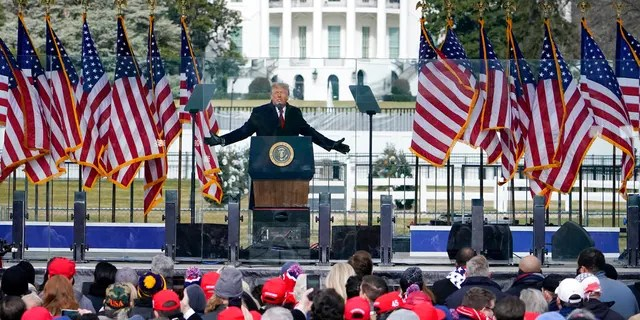 FILE: President Donald Trump speaks at a rally in Washington.