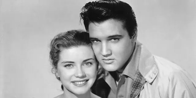 """Dolores Hart and Elvis Presley starred together in 1957's """"Loving You"""" and 1958's """"King Creole."""""""