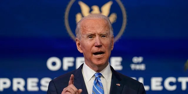 President-elect Joe Biden speaks during an event at The Queen theater, Thursday, Jan. 14, 2021, in Wilmington. Hearings on Biden's Cabinet nominees are set to begin Tuesday. (AP Photo/Matt Slocum)