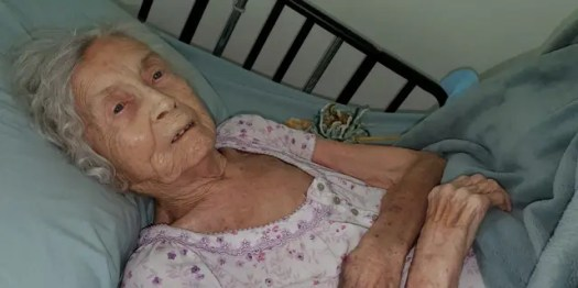 Rita Thomas (pictured) just days before passing away in September of 2020 (Photo courtesy of the Thomas family).