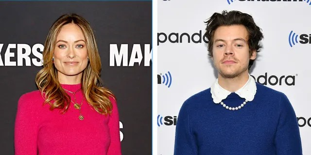 """""""Don't Worry Darling"""" stars Olivia Wilde (left) and Harry Styles (right) are reportedly dating."""