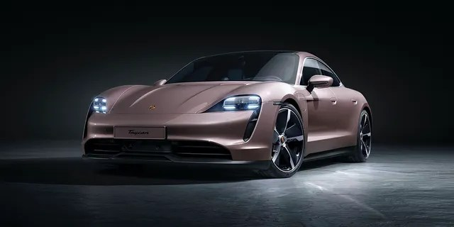 The Porsche Taycan is the brand's first electric car.