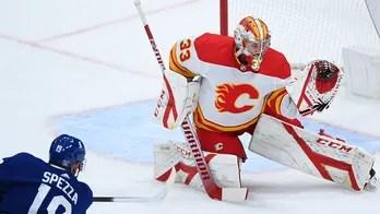 David Rittich, Flames blank NHL-leading Maple Leafs 3-0