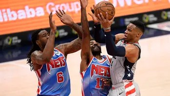 Westbrook, Beal hit late 3s, Wizards stun Nets 149-146