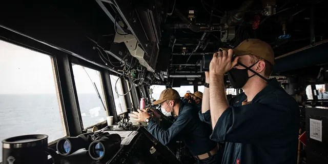 The 7th Fleet Destroyer conducts freedom of navigation operations in the South China Sea