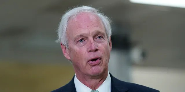Sen. Ron Johnson, R- Talk to reporters on Friday, February 12, 2021 at Capitol Hill in Lewis, Washington.  (AP Photo / Susan Walsh, File)