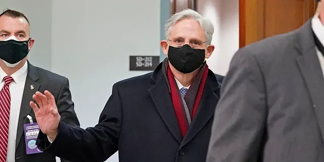Judge Merrick Garland arrives in Capitol Hill for his confirmation hearing in Washington, Monday, February 22, 2021, to become Attorney General of President Joe Biden.  (AP Photo / J. Scott Applewhite).
