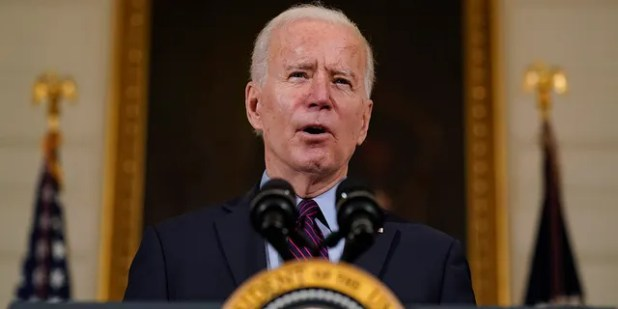 President Joe Biden speaks about the economy in the State Dining Room of the White House, Friday, February 5, 2021, in Washington.  (AP Photo / Alex Brandon)