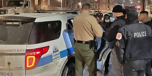 Chicago Police arrest carjacking suspect on Jan. 24, 2021.