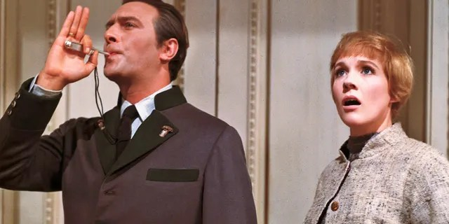 "Julie Andrews and Christopher Plummer in ""The Sound of Music""."