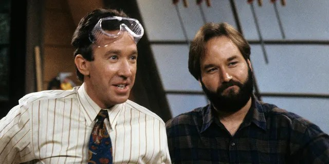 Tim Allen (left) and Richard Karn (right) in 'Home Improvement.' The two starred on the show for eight seasons. (Photo by Walt Disney Television via Getty Images Photo Archives)