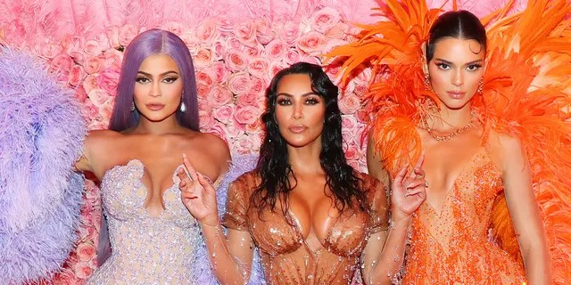 From left: Kylie Jenner, Kim Kardashian and Kendall Jenner at the 2019 Met Gala in New York City. (Getty Images)