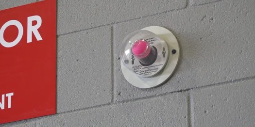 Doors throughout the station automatically close with an air pressure system that helps push out toxins. This pink ping pong ball demonstrates the air pressure moving back and forth. When the doors are closed you will see the ball and know the room is air tight. When the door opens the ball goes away