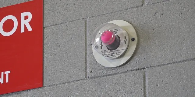 Doors throughout the station with an air pressure system that helps flush out toxins.  This pink ping pong ball displays air pressure back and forth.  When the doors are D you will see the ball and know that the room is tight.  The ball goes when the door opens
