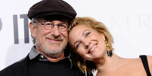 Steven Spielberg revealed that he sent Drew Barrymore a 'cover up' to read a quilt, as well as a changed version of his Playboy spread after posing for the magazine.  (Photo by Alberto E. Rodriguez / Getty Images)