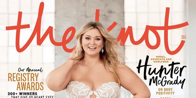 Hunter McGrady appeared on the cover of The Knot for its Fall 2019 issue.