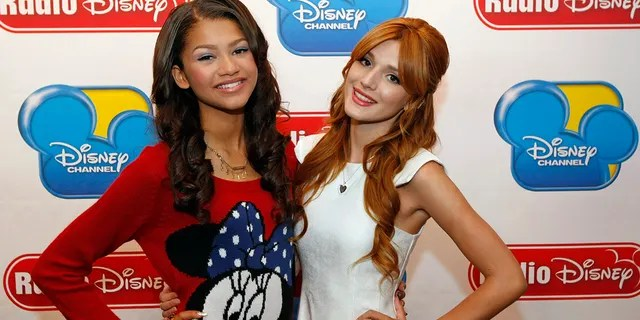 Belle Thorne, pictured here alongside Zendaya, rose to fame on the Disney show 'Shake It Up'.