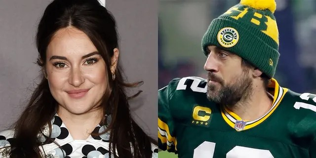 Shailene Woodley (left) has confirmed that she is engaged to football supporter Aaron Rodgers.