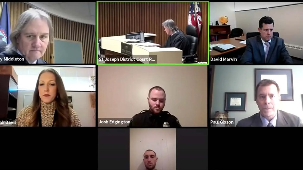 WATCH: Michigan prosecutor in Zoom hearing catches alleged domestic assaulter in same home as 'nervous' girlfriend