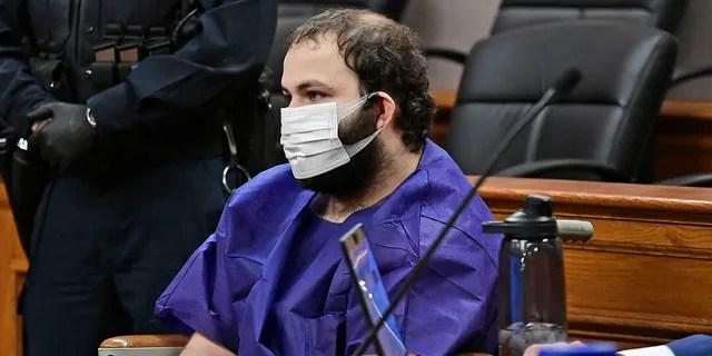 Ahmad Al Aliwi Alissa, 21, appears before Boulder District Court Judge Thomas Mulvahill on March 25, 2021. (Helen H. Richardson/The Denver Post via AP, Pool)