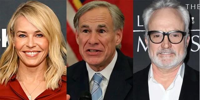 Chelsea Handler and Bradley Whitford mocked Gov. Greg Abbott's decision to reopen Texas.