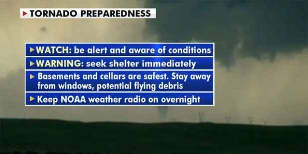 How to be prepared in the event of a tornado (Fox News)