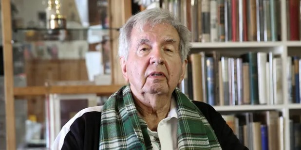In this April 30, 2014 file photo, Pulitzer Prize-winning author Larry McMurtry poses at his bookstore in Archer City, Texas.  McMurtry died at the age of 84 (AP Photo / LM Otero, file).