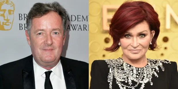Piers Morgan says Sharon Osbourne has paid a heavy price for defending him.  (Fake images)