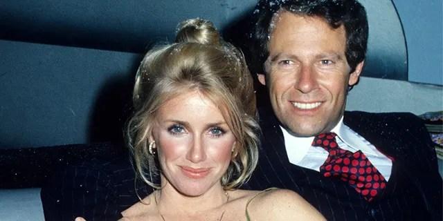 Suzanne Somers and husband Alan Hamel at Studio 54, circa 1978.