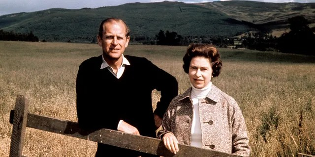 In this Sept. 1, 1972 file photo, Britain's Queen Elizabeth II and Prince Philip pose at Balmoral, Scotland, to celebrate their Silver Wedding anniversary.