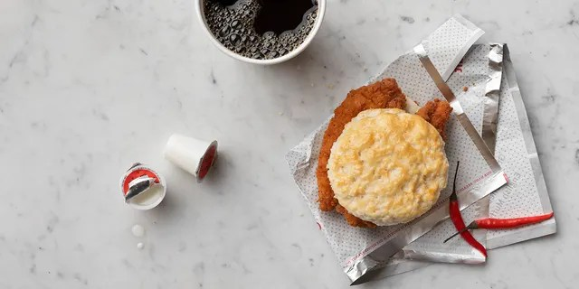 The Spicy Chick-n-Strips Biscuit will be feature two spicy, seasoned strips on a buttered biscuit and grace breakfast menus, the restaurant said.