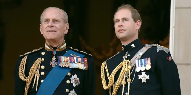 Prince Edward, Earl of Wessex (R) and his father Prince Philp, Duke of Edinburgh (L) in 2005.