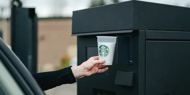 """Starbucks is testing a """"Borough a Cup"""" program with reusable cups that will be approved upon return.  (Starbucks)"""