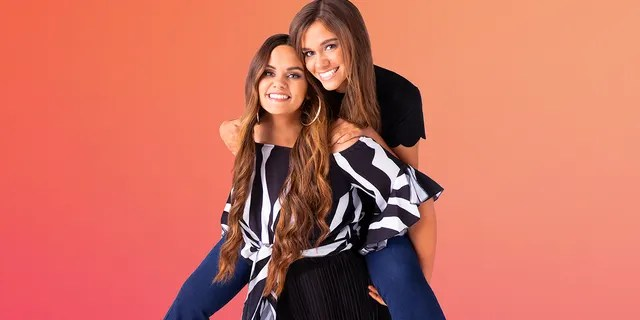 Brooke, 24, and Baylee, 22, credit their close bond to growing up in a blended family and always being 'stuck together.'